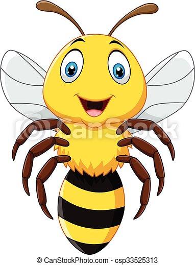飛行 かわいい 隔離された 蜂 蜂 イラスト 背景 隔離された かわいい ベクトル 飛行 白