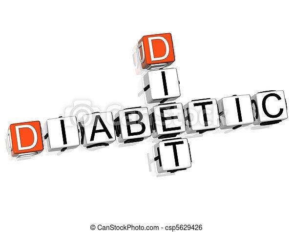 食事, クロスワードパズル, 糖尿病患者 - csp5629426