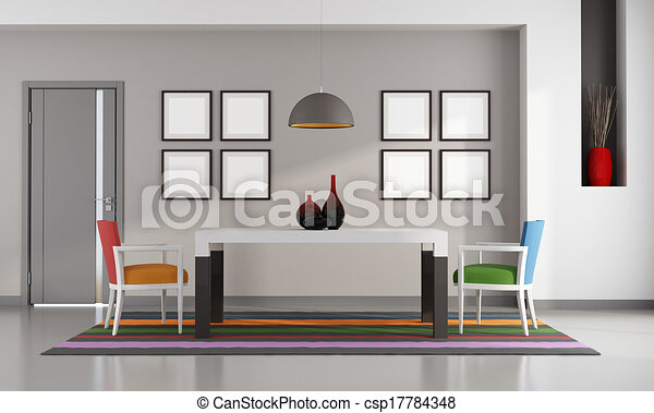 食堂, カラフルである - csp17784348