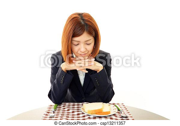食欲, 女, いいえ - csp13211357