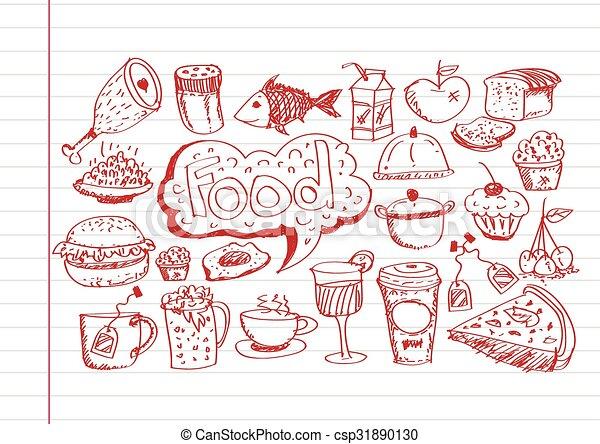 食物アイコン - csp31890130