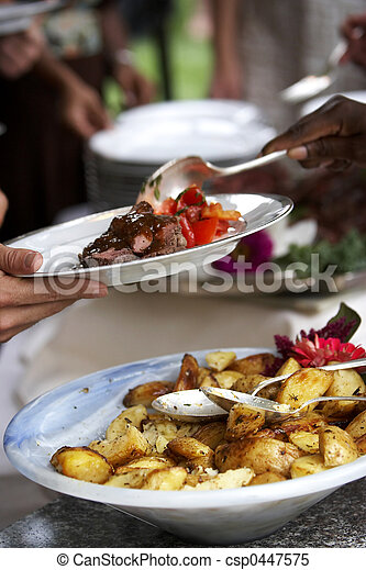 食物, ある, サービスされた - csp0447575