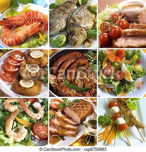 食物, コラージュ - csp6759983