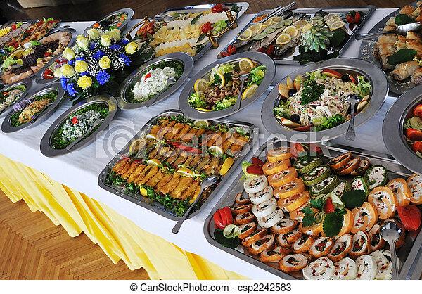 食物, ビュッフェ - csp2242583