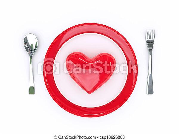 食物, 愛 - csp18626808