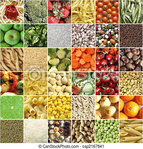 食物, 拼貼藝術 - csp2167841