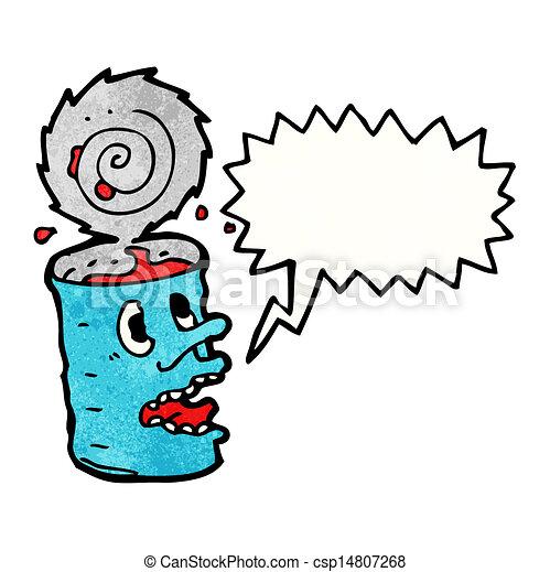 食物, 狂気, 缶, 漫画 - csp14807268