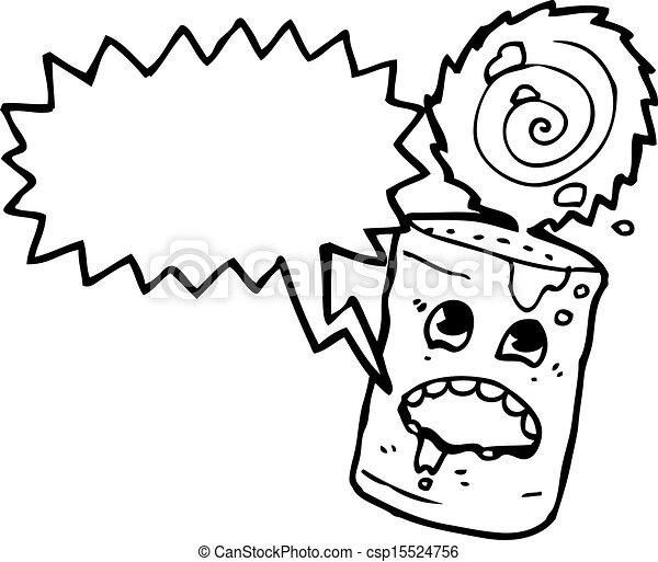 食物, 狂気, 缶, 漫画 - csp15524756