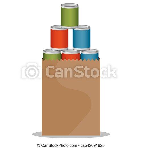 食物, 罐裝, 驅動 - csp42691925