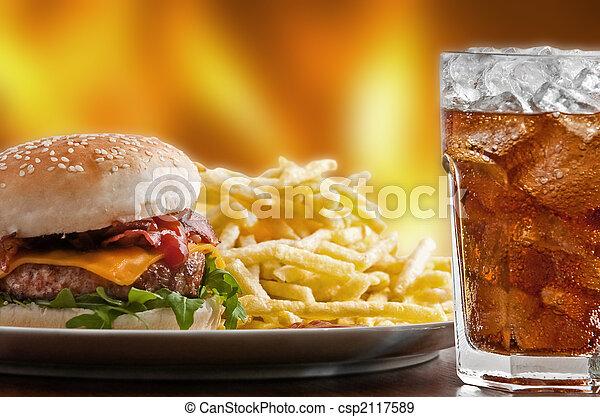 食物, 速い - csp2117589