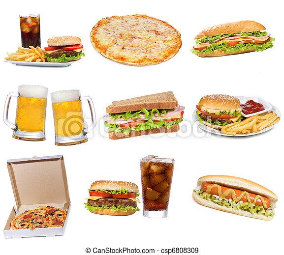 食物, 集合, 產品, 快 - csp6808309