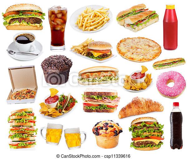 食物, 集合, 產品, 快 - csp11339616