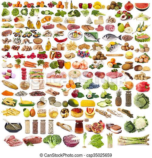 食物, 集合, 被隔离, 彙整 - csp35025659