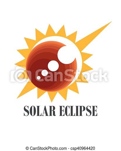 食, 太陽, アイコン - csp40964420