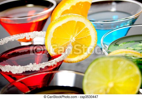 飲みなさい, 赤, カクテル - csp3530447