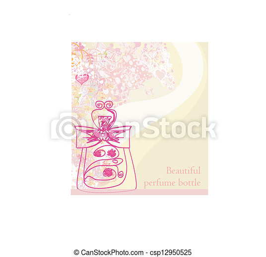 香水のビン, 香り, 花 - csp12950525