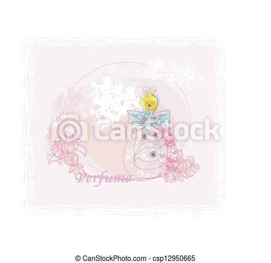 香水のビン, 香り, 花 - csp12950665