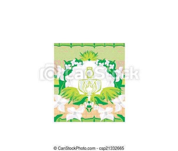 香水のビン, 香り, 花 - csp21332665