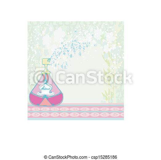 香水のビン, 香り, 花 - csp15285186