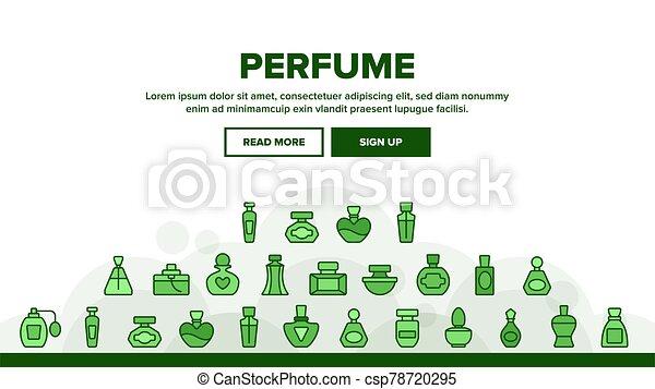 香水, セット, アイコン, コレクション, 容器, ベクトル - csp78720295