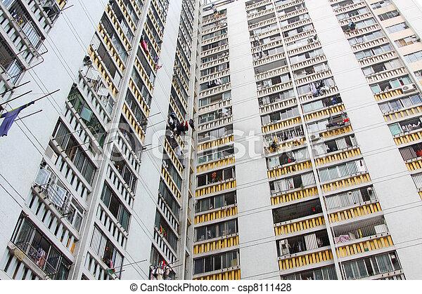 香港, ハウジング, パックされた, 公衆 - csp8111428