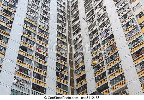 香港, ハウジング, パックされた, 公衆 - csp8112168