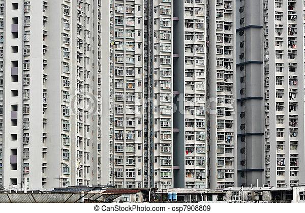 香港, ハウジング, 公衆 - csp7908809