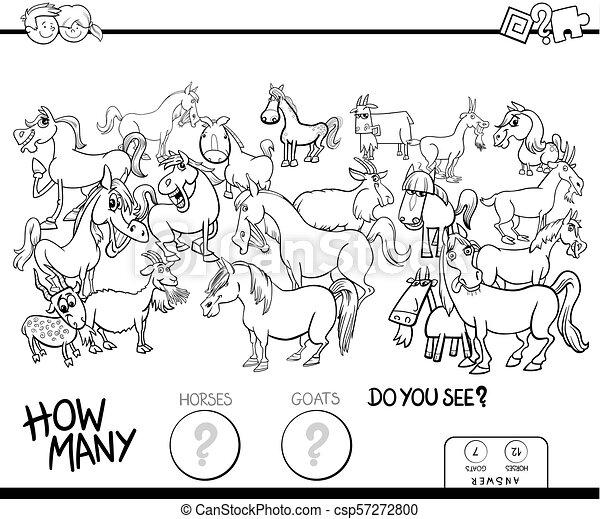 馬が彩色する, ゲーム, 本, 数える, ヤギ - csp57272800