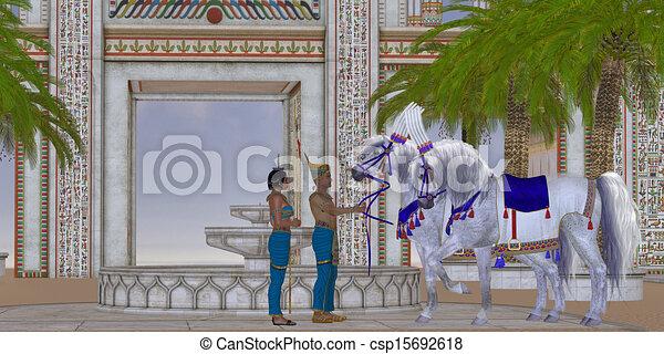 馬, エジプト人 - csp15692618