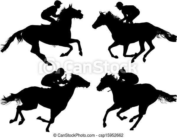 馬 競争 - csp15952662