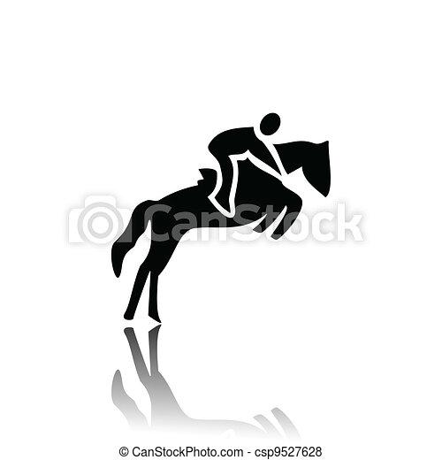 馬 競争 - csp9527628