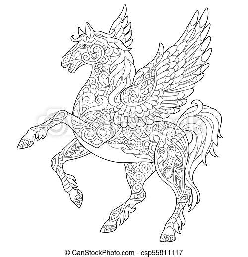 馬, 飛行, pegasus - csp55811117