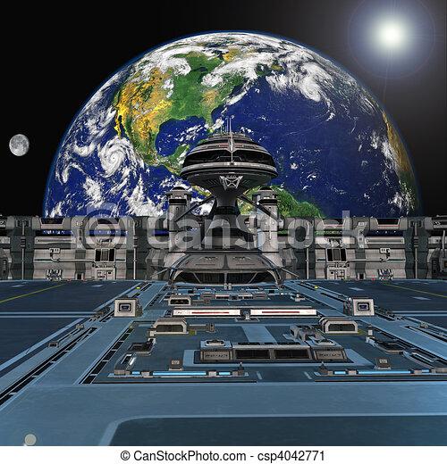 駅, 未来派, スペース - csp4042771
