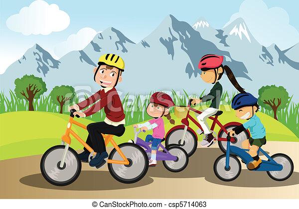 騎車, 家庭 - csp5714063