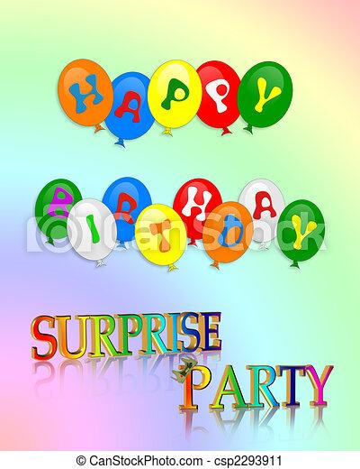 驚き, birthday, 幸せ, パーティー - csp2293911