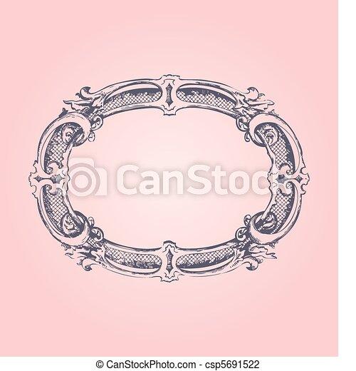 骨董品, ピンク, フレーム - csp5691522