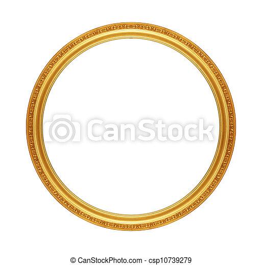 骨董品, フレーム, 古い, 金 - csp10739279