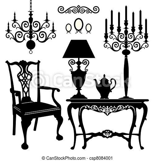 骨董品, 家具 - csp8084001