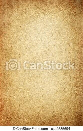 骨董品, 黄色がかった, 羊皮紙 - csp2535694