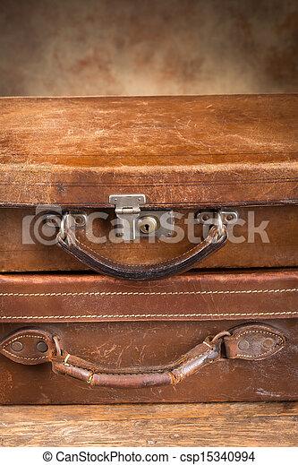 骨董品, 2, 閉じられた, スーツケース - csp15340994