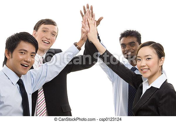高い 5, -, ビジネス, グループ - csp0123124