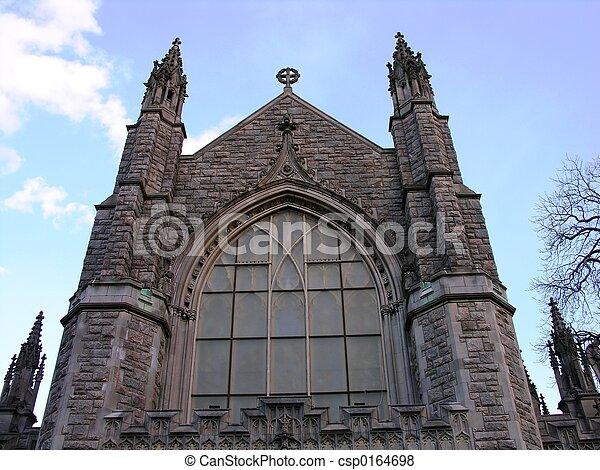 高い, church. - csp0164698