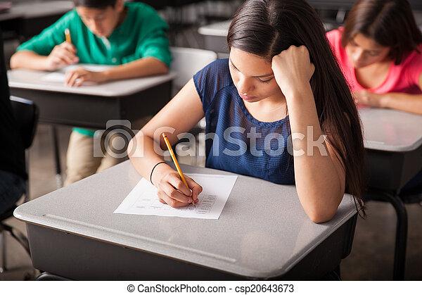 高く, テスト, 学校, 取得 - csp20643673