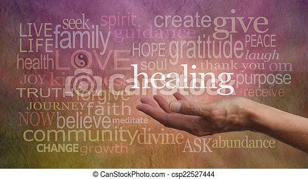 高く, 共鳴, 治癒, 言葉 - csp22527444