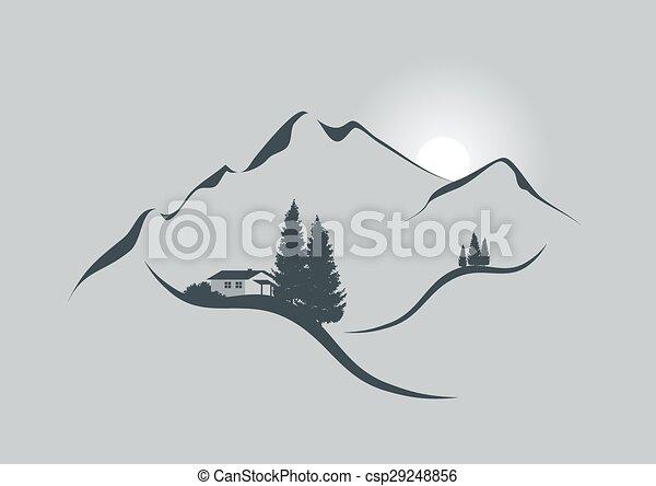 高山, 日出 - csp29248856