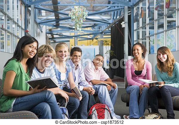 高校, クラス, 学童 - csp1873512