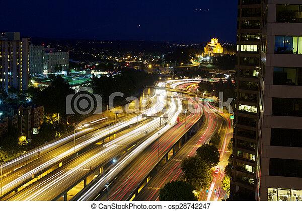 高速道路, 動きぼやけ - csp28742247