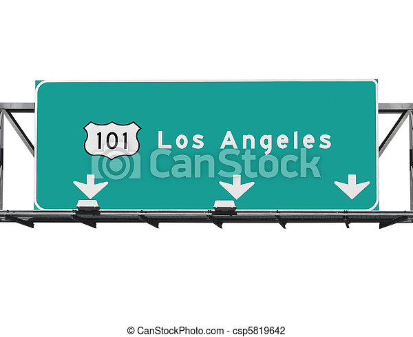 高速道路, los, 101, アンジェルという名前の人たち - csp5819642