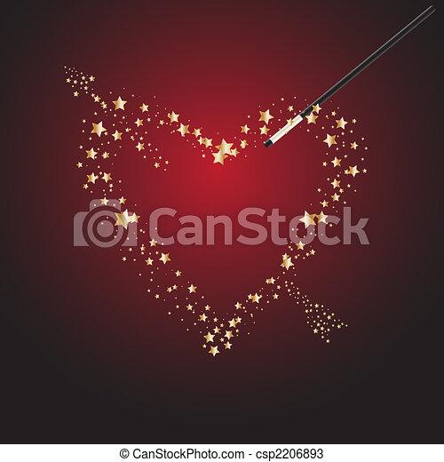魔法の 細い棒, バレンタイン - csp2206893