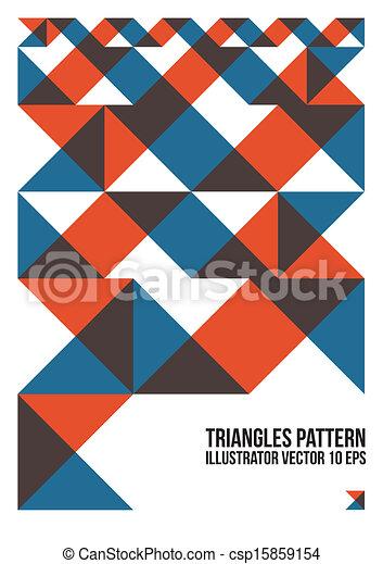 鮮艷, 三角形, 卡片, 覆蓋, 等等, 小冊子, 背景, 網站, 摘要, 海報, 布局, 命名, pattern., 雜志 - csp15859154